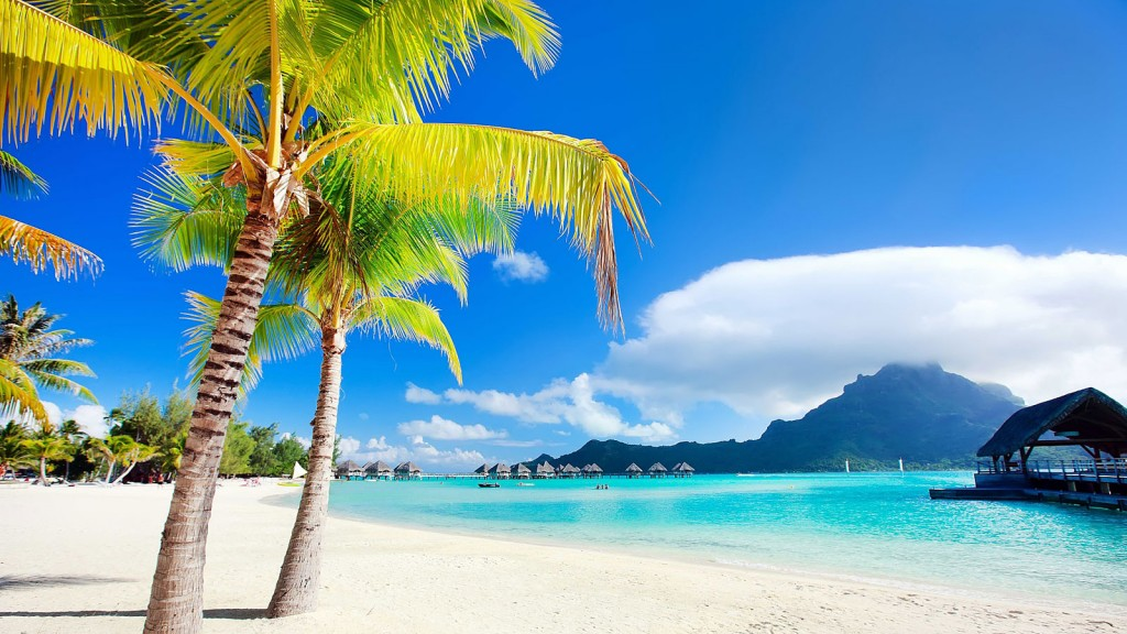 Ön Bora Bora i Stilla havet